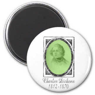 Charles Dickens 6 Cm Round Magnet