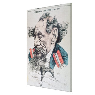 Charles Dickens astride the English Channel Canvas Print
