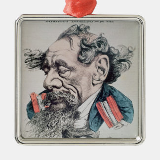 Charles Dickens astride the English Channel Christmas Ornament