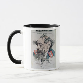Charles Dickens astride the English Channel Mug