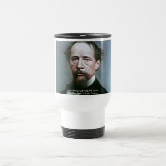 "Charles Dickens ""Charity @Home"" Quote Gifts Stainless Steel Travel Mug"