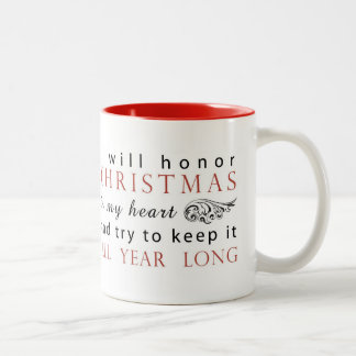 Charles Dickens Christmas Quote Two-Tone Mug