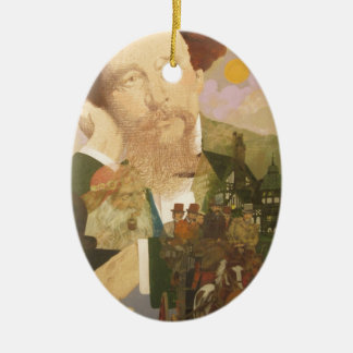 Charles Dickens, English Author Christmas Ornament