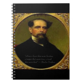 Charles Dickens & Heartfelt Quote Spiral Notebook