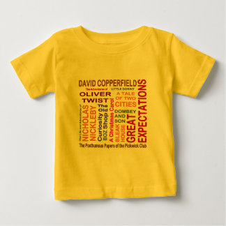 Charles Dickens Novels Baby T-Shirt