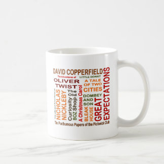 Charles Dickens Novels Basic White Mug