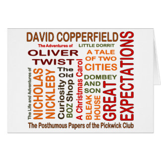 Charles Dickens Novels Card