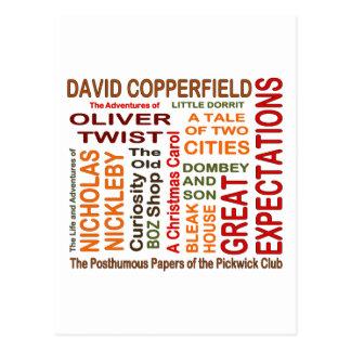 Charles Dickens Novels Postcard
