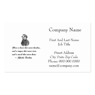 Charles Dickens Our Mutual Friend quote Double-Sided Standard Business Cards (Pack Of 100)