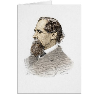 Charles Dickens Portrait Greeting Card