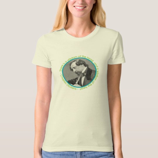 Charles Dickens Portrait With Quote T-Shirt