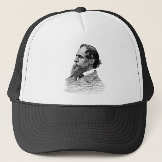 Charles Dickens Profile Trucker Hat