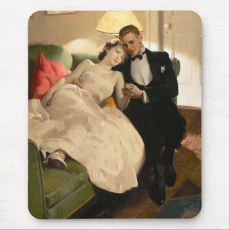 Charles Edward Chambers: Romantic Couple Mouse Pad