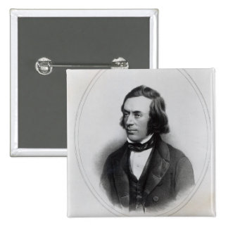 Charles Gavan Duffy, lithographed by H. O'Neill 15 Cm Square Badge