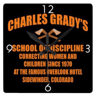 Charles Grady's School of Discipline Clock
