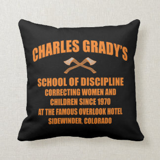 Charles Grady's School of Discipline Throw Pillow
