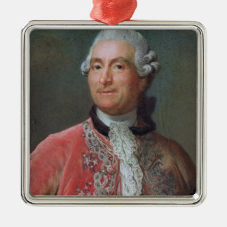 Charles Gravier  Count of Vergennes, 1771-74 Silver-Colored Square Decoration