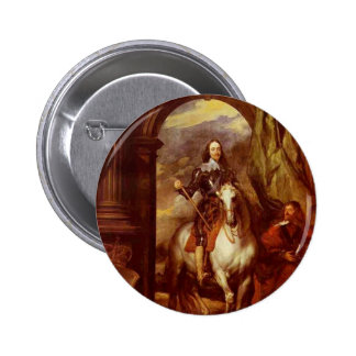 Charles I 6 Cm Round Badge