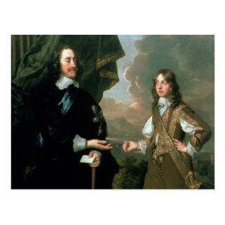 Charles I  and James, Duke of York , c.1647 Post Card