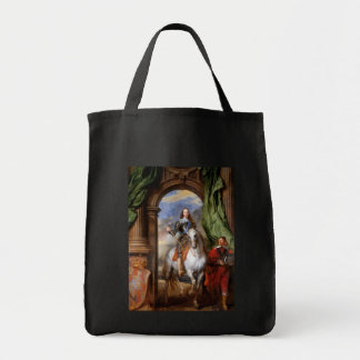 Charles I on Horseback by Van Dyck Grocery Tote Bag