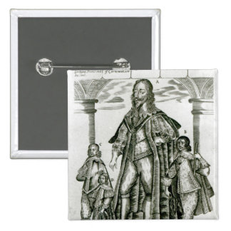 Charles I with his Children 15 Cm Square Badge