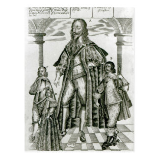 Charles I with his Children Postcard