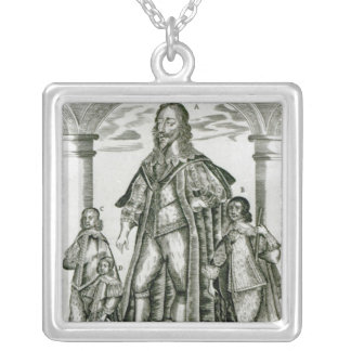 Charles I with his Children Silver Plated Necklace