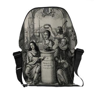Charles II (1630-85) as Patron of the Royal Societ Messenger Bag