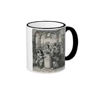 Charles II (1630-85) as Patron of the Royal Societ Ringer Mug