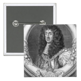 Charles II (1630-85) King of Great Britain and Ire 15 Cm Square Badge