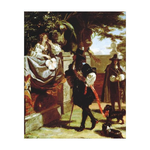 Charles II  and Nell Gwynne Stretched Canvas Print