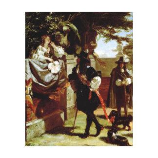 Charles II  and Nell Gwynne Canvas Print