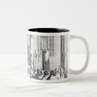 Charles II  Crowned at Scone, 1651 Two-Tone Coffee Mug
