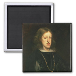 Charles II  of Spain Square Magnet