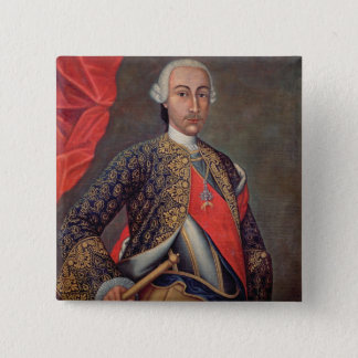 Charles III  in armour and wearing the Order 15 Cm Square Badge