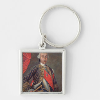 Charles III  in armour and wearing the Order Key Ring