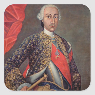 Charles III  in armour and wearing the Order Square Sticker