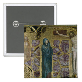 Charles IV at Prayer, Virgin and Christ of 15 Cm Square Badge