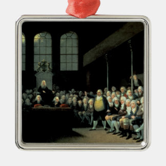 Charles James Fox  Addressing the House Silver-Colored Square Decoration