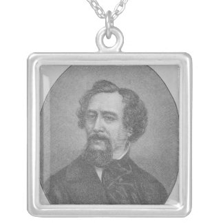 Charles John Huffam Dickens Silver Plated Necklace