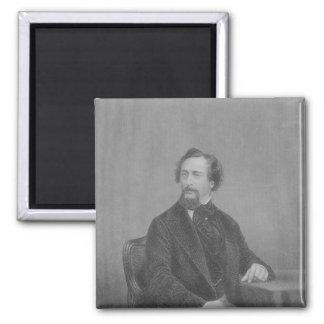 Charles John Huffam Dickens Square Magnet