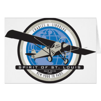 Charles Linberg Historic Flight Greeting Card