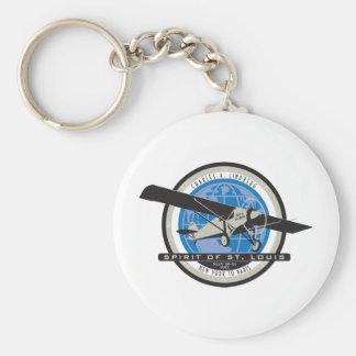 Charles Linberg Historic Flight Basic Round Button Key Ring