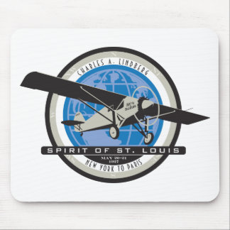 Charles Linberg Historic Flight Mouse Pad