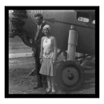 Charles Lindbergh and Wife next to Aeroplane 1929 Poster