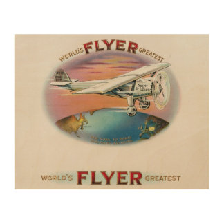 Charles Lindbergh World's Greatest Flyer Vintage Wood Canvases