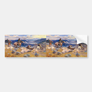 Charles M. Russell's Loops and Swift Horses (1916) Bumper Stickers