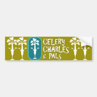 'Charles & Pals' Light Olive Bumper Sticker