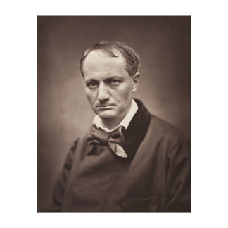 Charles Pierre Baudelaire Portrait Étienne Carjat Gallery Wrapped Canvas