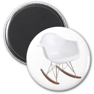Charles & Ray Eames Shell Eiffel Rocking Chair 6 Cm Round Magnet